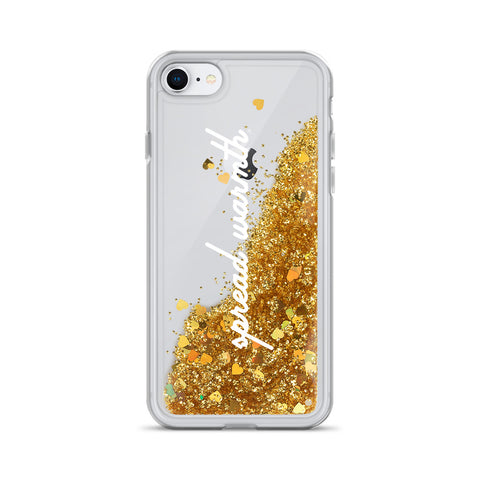 Spread Warmth Glitter Phone Case