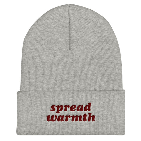 Heathered Gray Maroon Spread Warmth Beanie