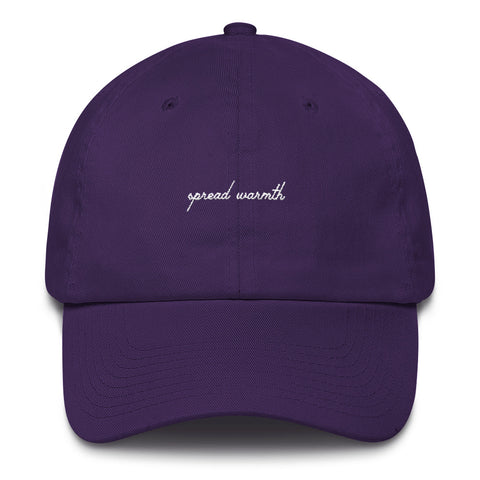 Purple & White 'Spread Warmth' Cotton Cap
