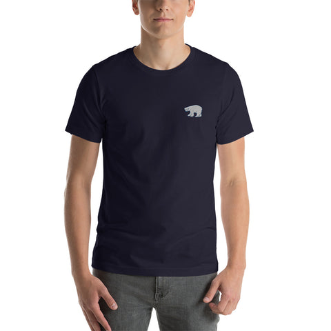 Polar Bear Embroidered Blue Tee