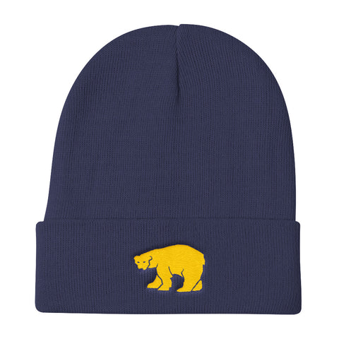 Navy Yellow Polar Bear Beanie