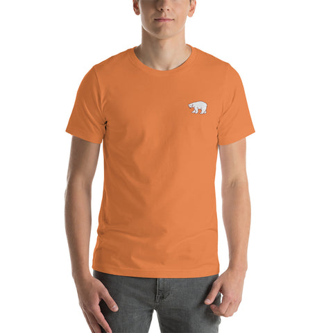 Burnt Orange Polar Bear Embroidered Tee