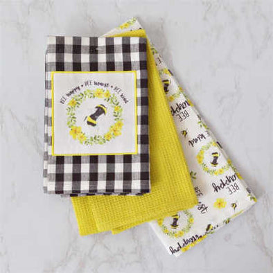 Sweet Bee Tea Towel Set of 3