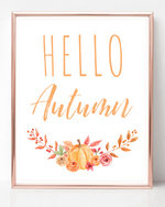 Hello Autumn - Fall Printable