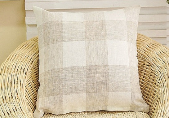 Cream  CLASSIC Buffalo Plaid Pillow covers