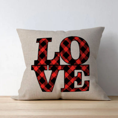 Love Block Bufflao Check Pillow cover
