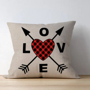 Love Direction Buffalo Check Pillow cover