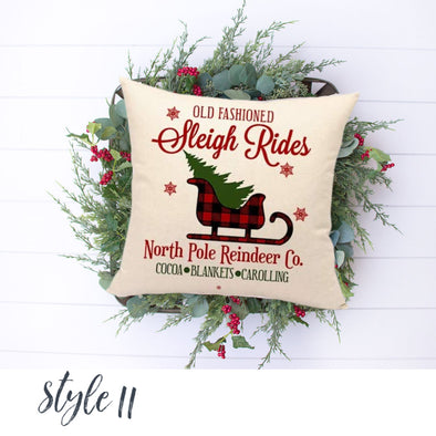 Plaid Sleigh - Black and Red