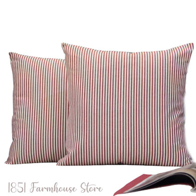 Farmhouse Ticking Fabric Pillow Covers