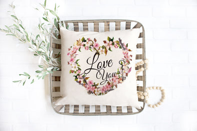 Love You Pillow cover