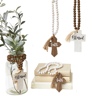 Farmhouse Wood Bead Accessories