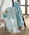 Fringed Cotton Throw - Blanket