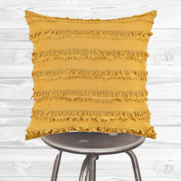 Boho Pillow Cover - Yellow tassels