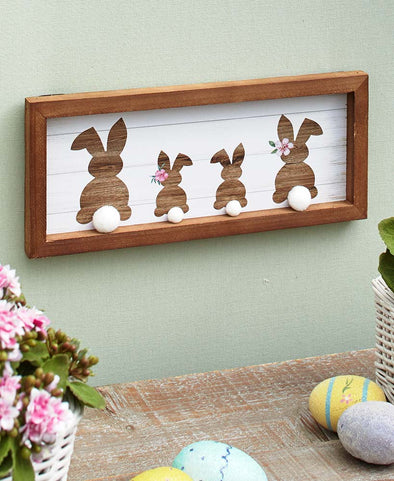 Cottontail Family Plaque