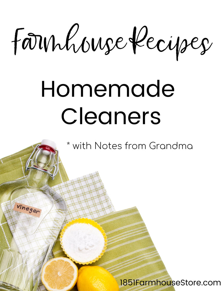 Homemade Cleaning Products Recipe Book