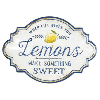 Lemon Metal Sign