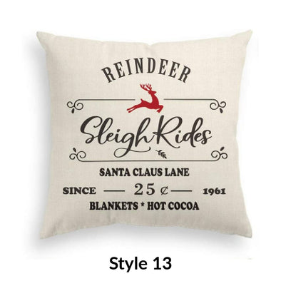 Sleigh Ride Pillow Cover