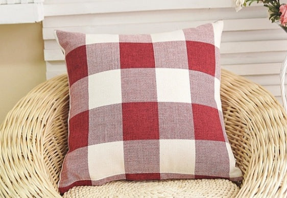 Red CLASSIC Buffalo Plaid Pillow cover