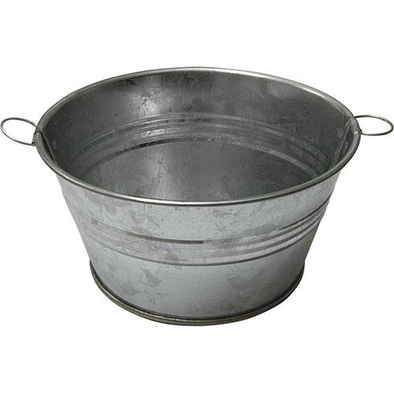 Tin Wash Tub - Garden planter