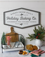 Vintage Style Christmas HOLIDAY BAKING COMPANY Baked Goods Bakery Sign