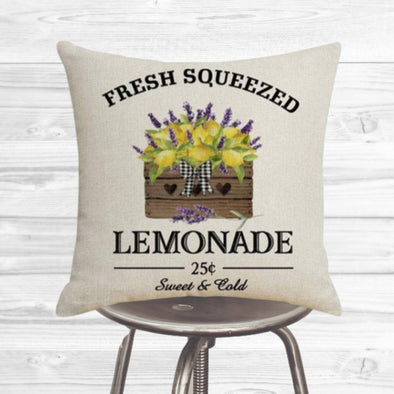 Spring Lemonade Pillow Cover