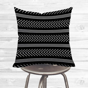 Boho Pillow Cover - black & white arrows
