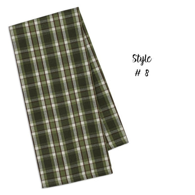 Green Plaid XL Towel