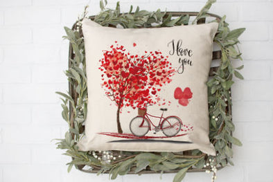 Bike Love Pillow cover