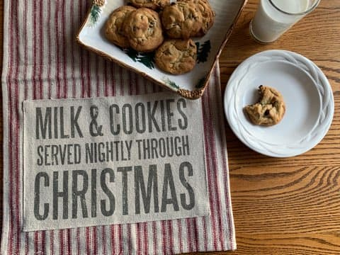 Milk and Cookies Heirloom Towel