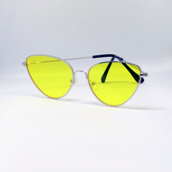 Cat Eye Yellow Sunglasses - GLETNYC.com