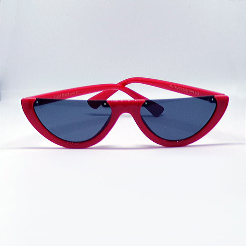 Red Cropped Sunglasses - GLETNYC.com