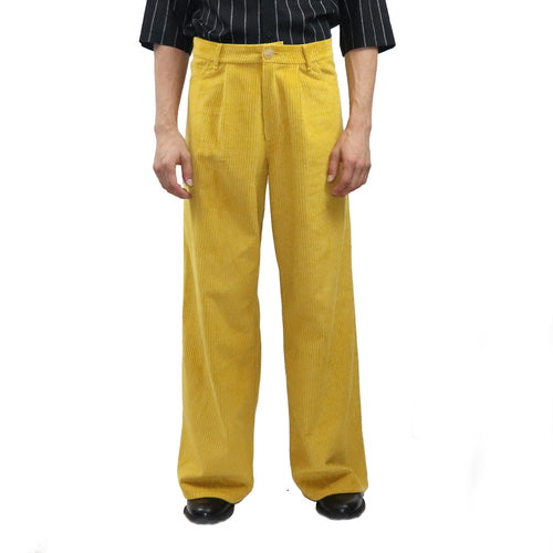 Pleated Corduroy Trouser - GLETNYC.com