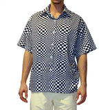 Graphic Check Short Sleeve Shirt - GLETNYC.com