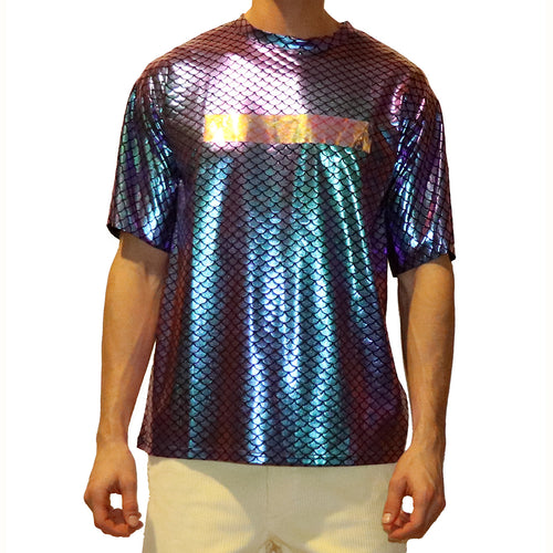 Iridescent Fish Scale T-shirt - GLETNYC.com