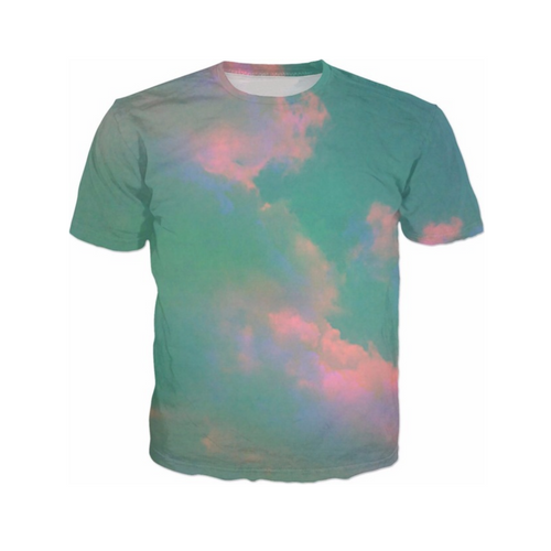 Teal Clouds T-Shirt - GLETNYC.com