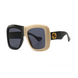 Split Monochrome Sunglasses - GLETNYC.com