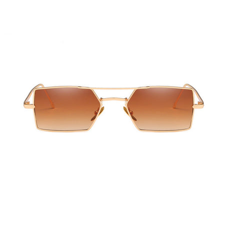 70's Oversized Brown/Gold Sunglasses