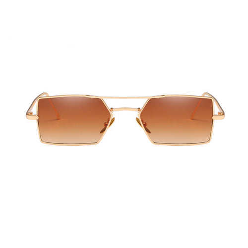 Square Bronze Sunglasses - GLETNYC.com