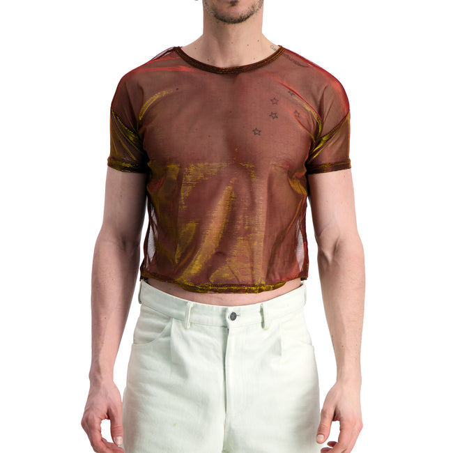 Iridescent Sheer T-shirt - GLETNYC.com