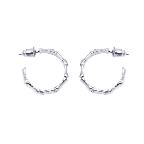 Bamboo Hoop Earrings (Pair) - GLETNYC.com