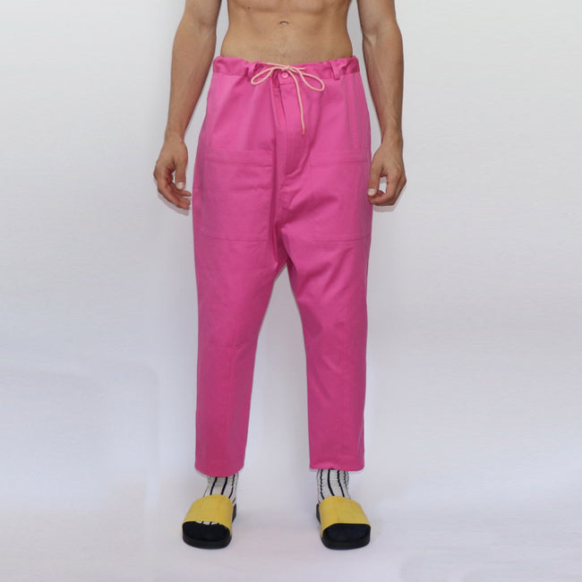 Chalk Baggy Trousers - GLETNYC.com