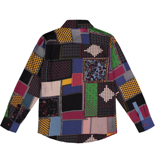 Quilt Printed Long Sleeved Shirt - GLETNYC.com