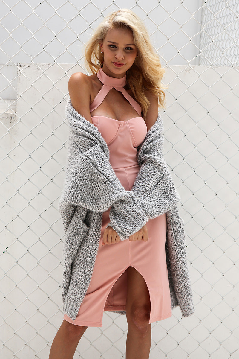 Casual Knitted Long Cardigan - BellaChics