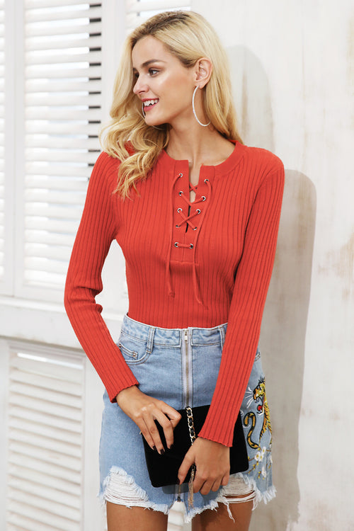 Tied Up Knitted Sweater Jumper - BellaChics