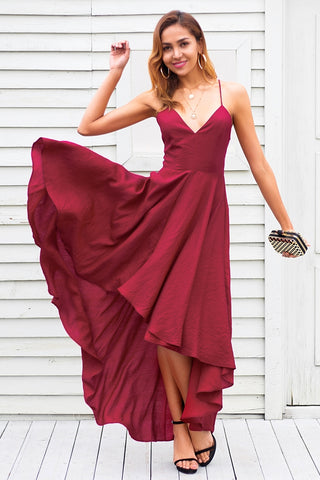 Backless V-Neck Short Dress