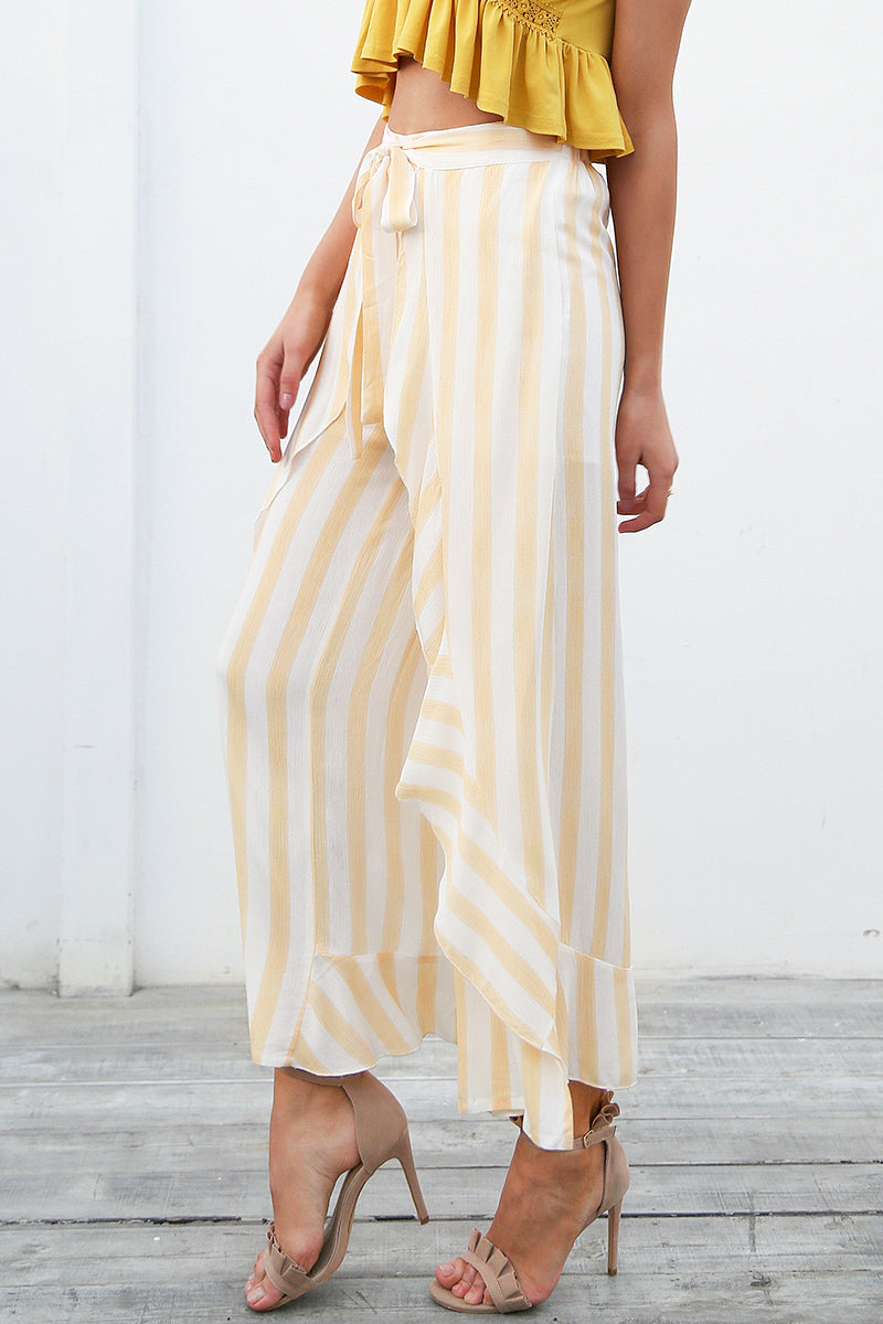 Striped Wide Leg Pants - BellaChics