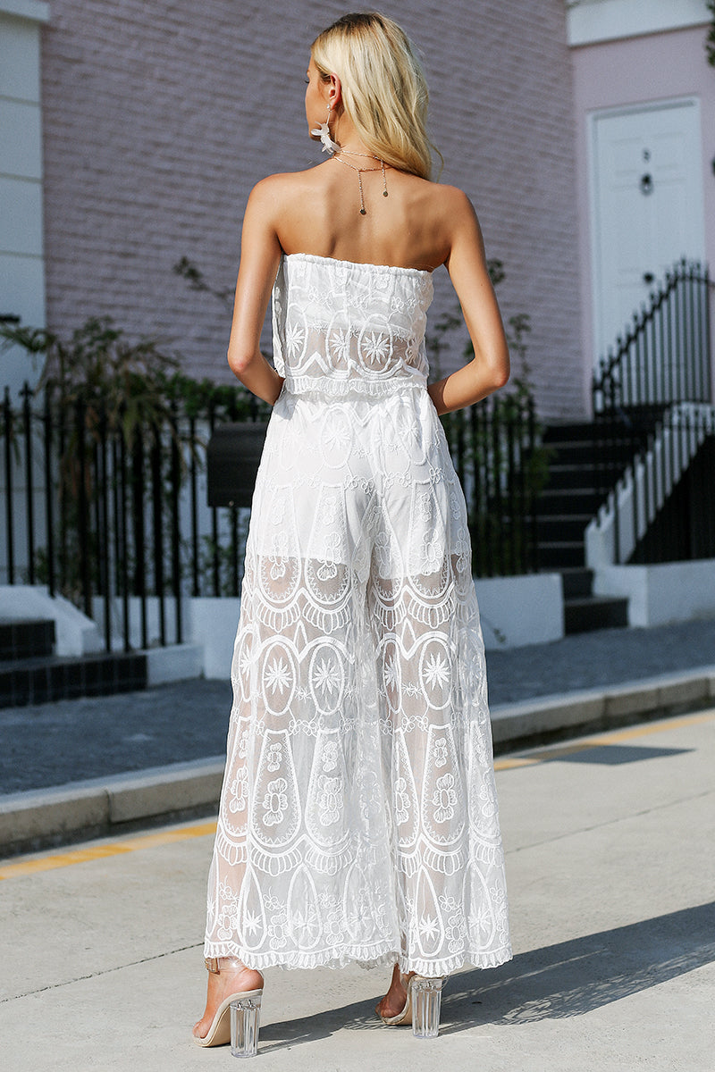 Sexy Two Piece Lace Jumpsuit - BellaChics