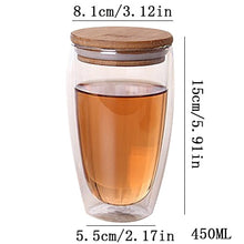 Insulated Glass Tea Cup With Bamboo Lid