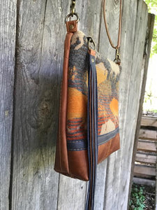 Buffalo Trail Deluxe - Handcrafted Leather and Wool Bag