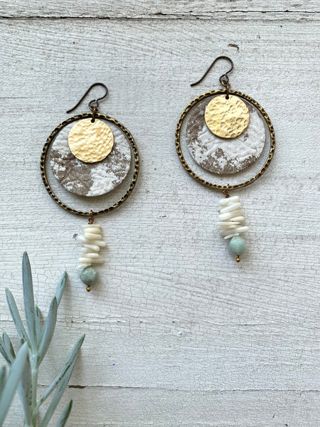 desert moonrise ~ amazonite